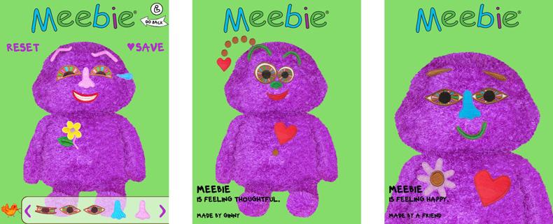 3 Meebie App screenshots